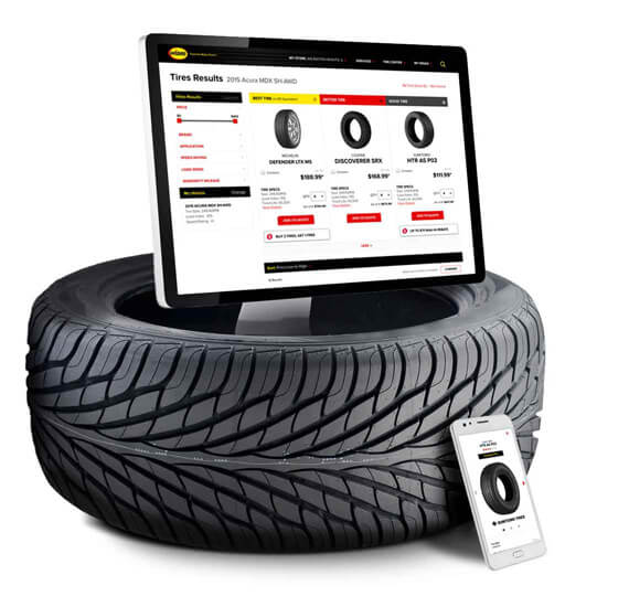 Order tires online from Midas on a desktop or mobile device