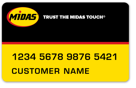 Midas Credit Card. No interest if paid in full within 6 months.
