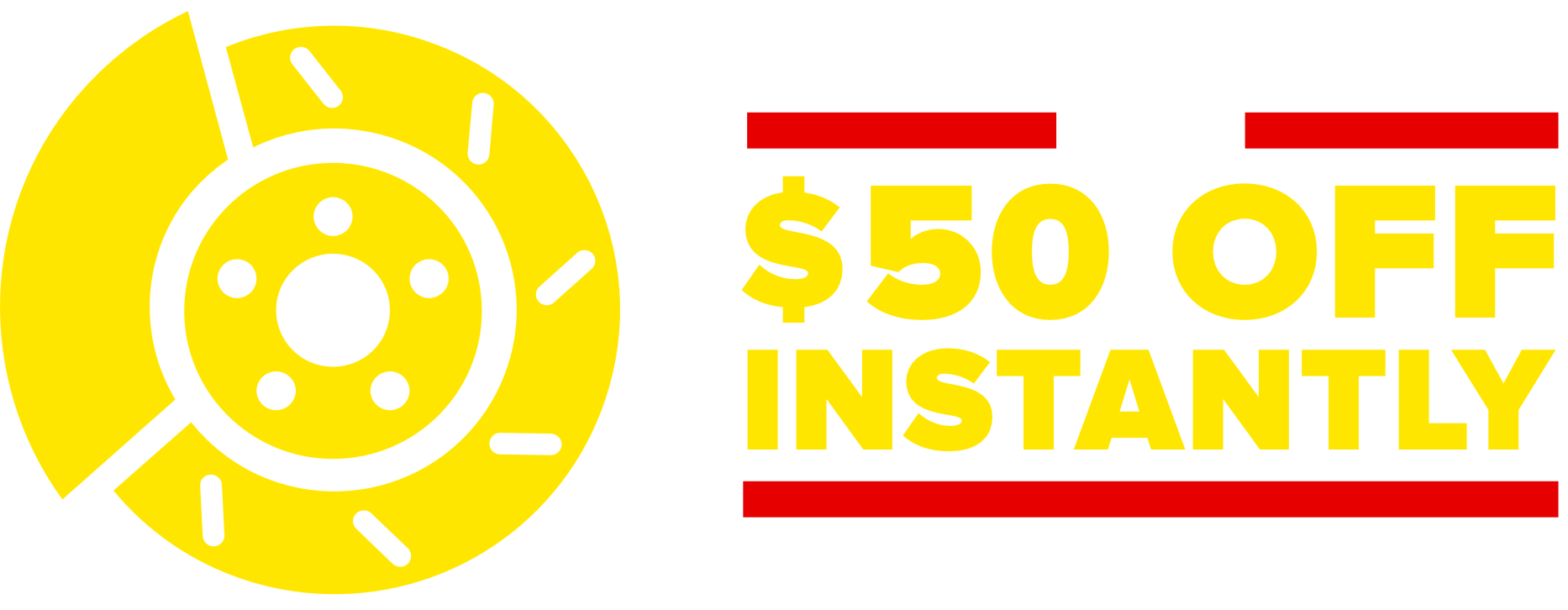 Get up to $50 off brake pads or shoes. Lifetime guarantee. $25 off per axle. Installation required.