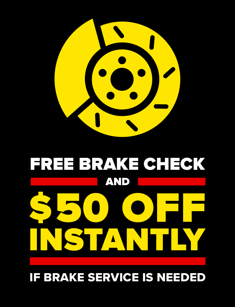 Get up to $50 off brake pads or shoes. Lifetime guarantee. $25 off per axle. Installation required