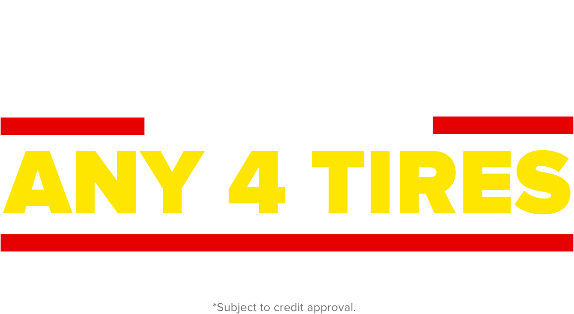 Get $100 Back with installation of any 4 tires offer good with the Midas Credit card.
