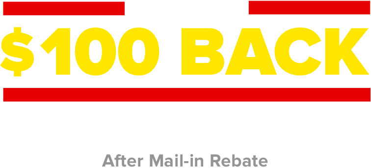 Get up to $100 back with installation of 4 select tires. After mail-in rebate