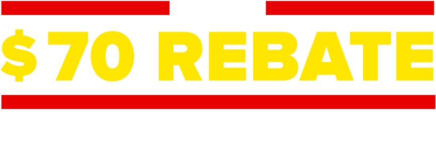 Get a $70 rebate with installation of 4 select tires.