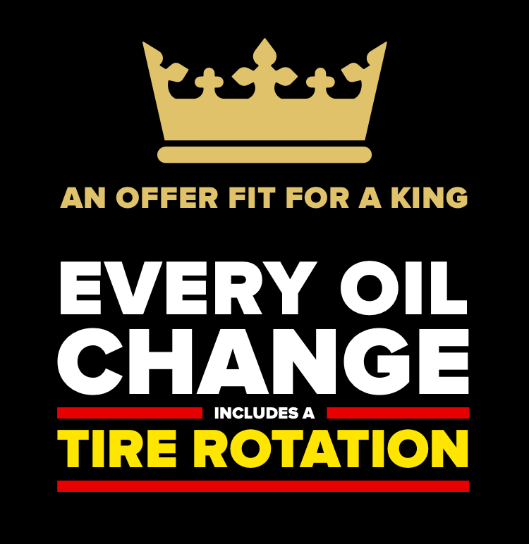 Every oil change includes a tire rotation.