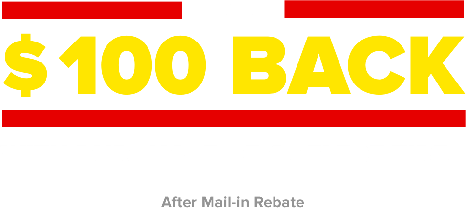 Up to $100 back with purchase of 4 select tires. After mail in rebate