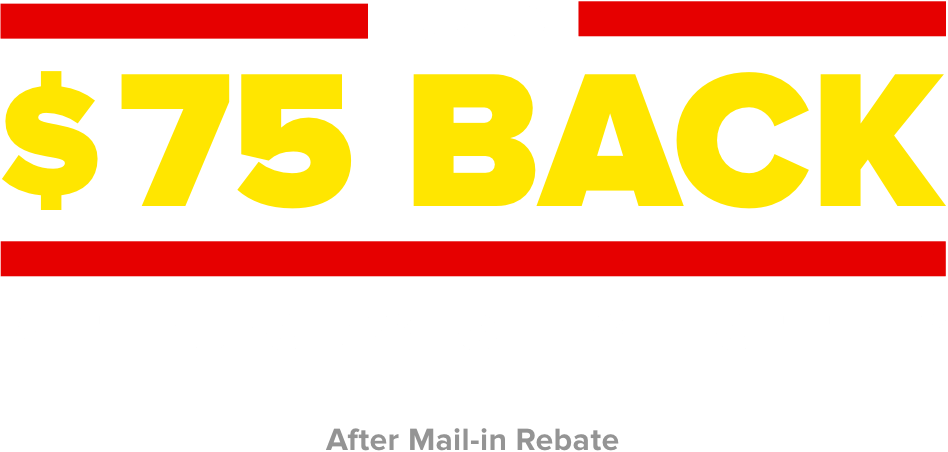 Up to $75 back with purchase of 4 select tires. After mail in rebate