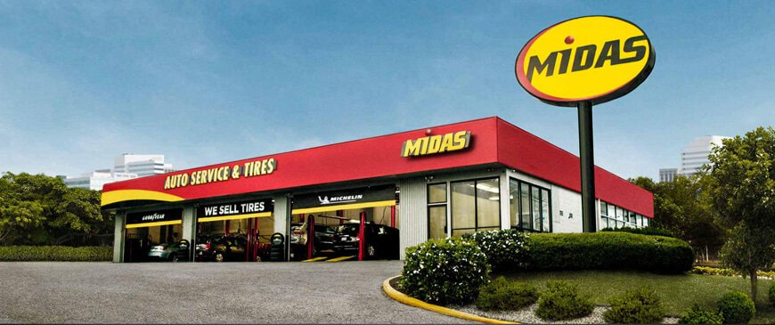 Midas Auto Service and Tires store.