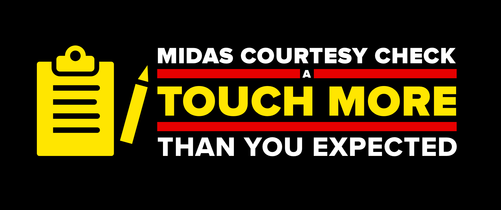 Midas Courtesy Check. A touch more than you expected